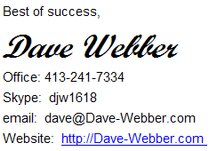 Dave Webber Sig File On Work At Home Christians